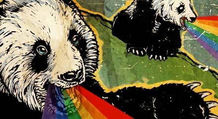 Vomiting panda